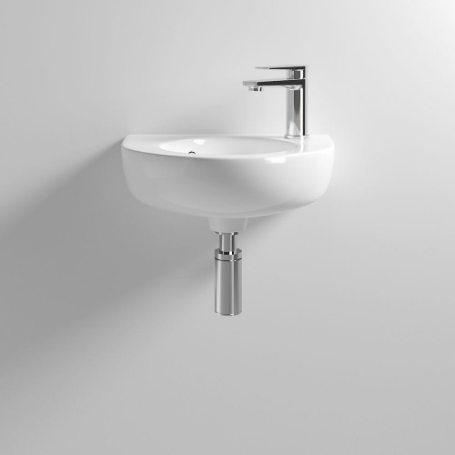 430mm Round Wall Hung Basin - 1 Tap Hole