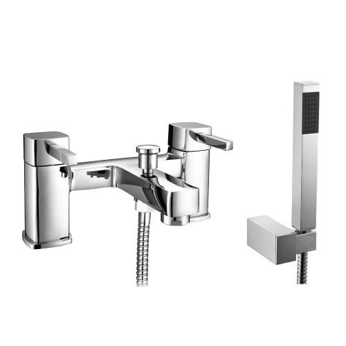Nova Chrome Bath Shower Mixer & Shower Kit