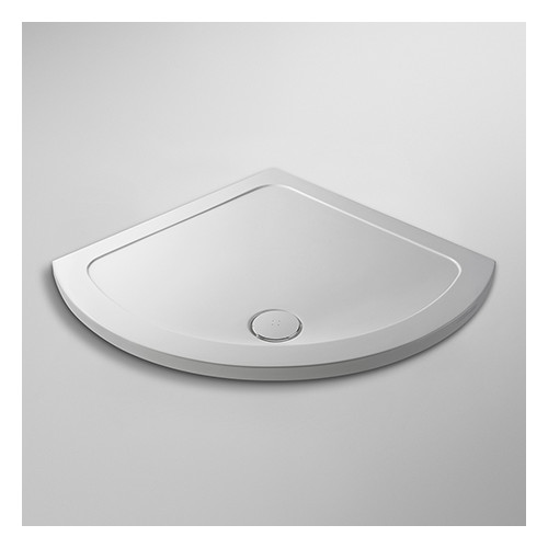 Pearlstone White Single Entry Shower Tray 914mm x 914mm x 40mm