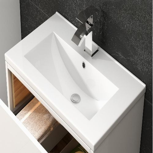 800mm Minimalist Ceramic Furniture Basin