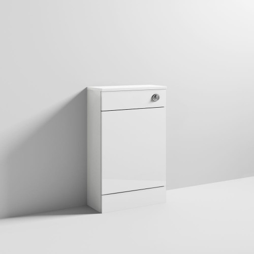 Sienna 500mm White Gloss WC Unit Inc. Concealed Cistern