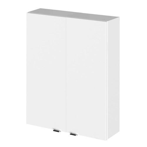 Hudson Reed Fusion White Gloss 500mm 2 Door Wall Unit (180mm Deep)