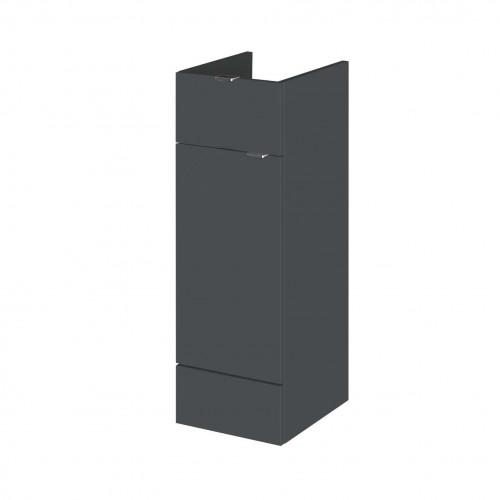 Hudson Reed Fusion Grey Gloss 300mm Drawer Line Base Unit (355mm Deep)