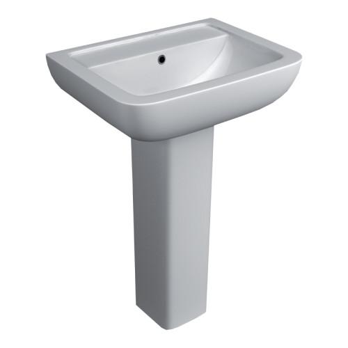 Options 600 550mm Basin & Full Pedestal - 1 Tap Hole