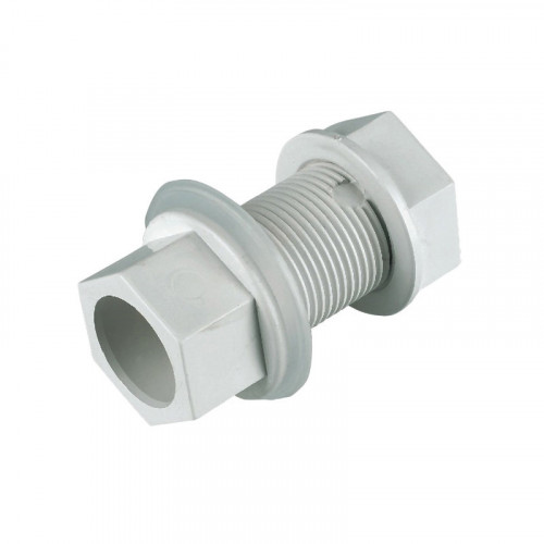 Overflow Straight Tank Connector White 21.5mm