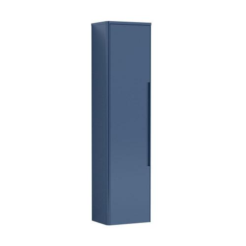 Elbe 356x1392mm Satin Blue Tall Wall Hung Unit