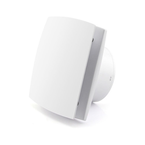 """Essentials Slim 4"""" White Concealed Axial Extractor Fan"""