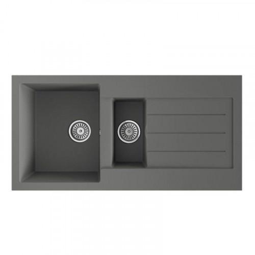 Comite Grey 1.5 Bowl Kitchen Sink - Single Drainer