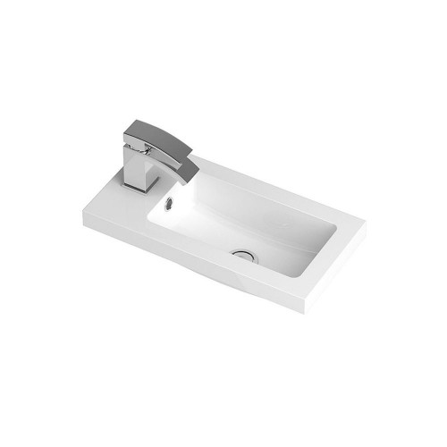 Ruby 500mm Polymarble Side Tap Basin - 1 Tap Hole