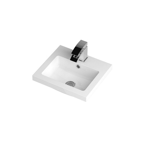 Jewel 400mm Polymarble Rear Tap Basin - 1 Tap Hole
