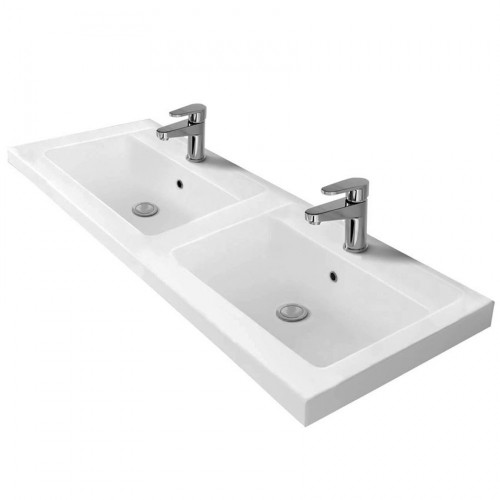 1200mm Polymarble Double Bowl Basin