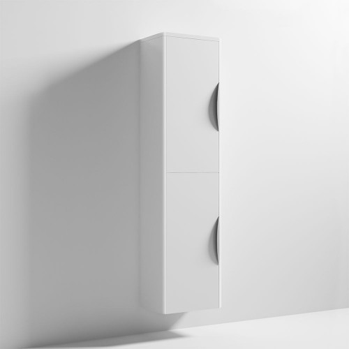 Parade 350mm x 1400mm White Gloss Wall Mounted Cabinet