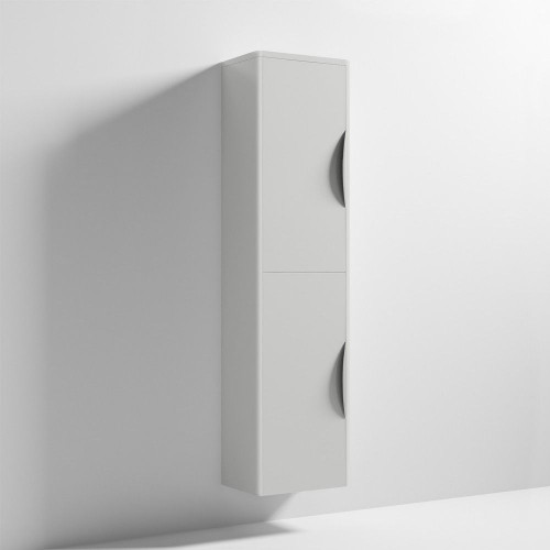 Parade 350mm x 1400mm Grey Mist Gloss Wall Mounted Cabinet