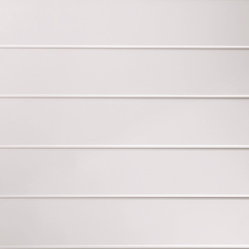 Proplas White Gloss White Embedded Inset 250mm x 2700mm x 8mm Wall & Bathroom Panelling (Pack of 4)
