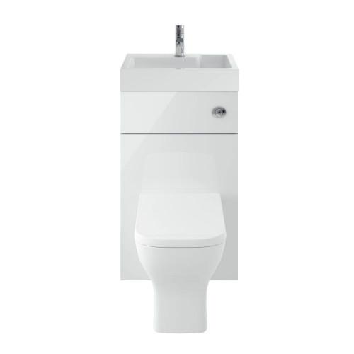 Athena 500mm Gloss White WC/Basin Unit Combi & Cisten (Exc. Pan & Seat)