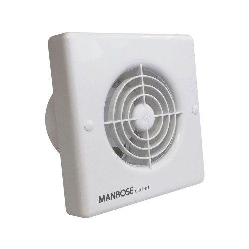 Manrose 100mm Quiet Bathroom Axial Fan with Timer