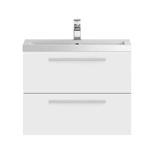 Hudson Reed Quartet White Gloss 720mm Wall Hung Cabinet & Basin
