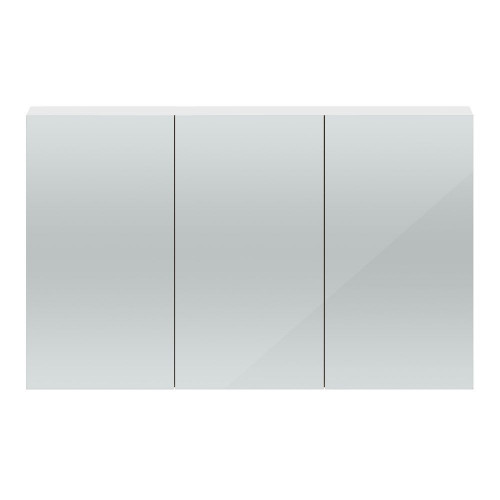 Hudson Reed Quartet White Gloss 1350mm 3 Door Mirror Unit