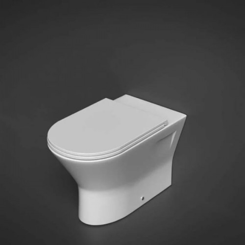 RAK Resort 450mm Ext. Height Back To Wall WC Pan & Slimline Soft Close Seat