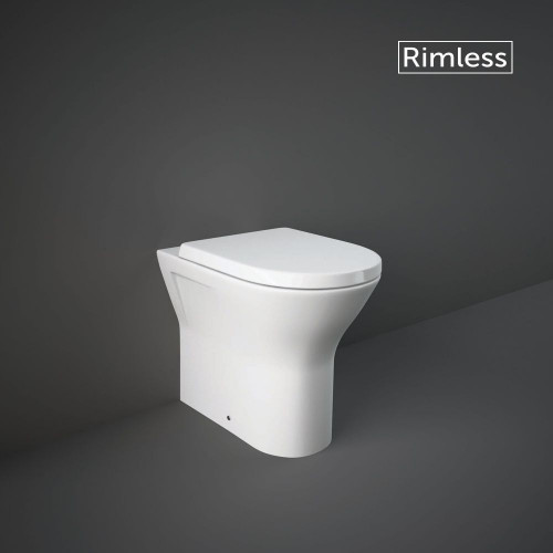 RAK Resort 450mm Ext. Height Back To Wall WC Pan & Wrapover Soft Close Seat