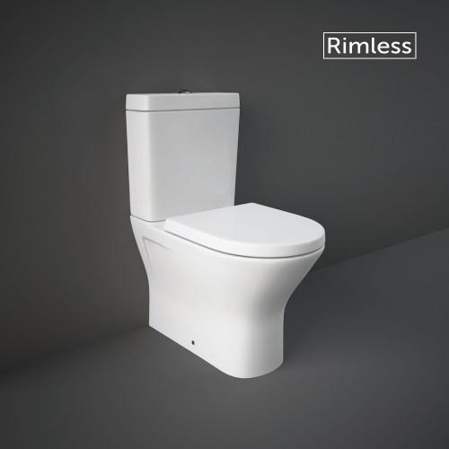 RAK Resort Mini Close Coupled Closed Back Toilet & Wrapover Soft Close Seat