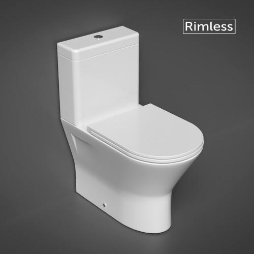 RAK Resort Mini Close Coupled Closed Back Toilet & Slimline Soft Close Seat