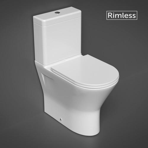 RAK Resort Maxi Close Coupled Closed Back Toilet & Slimline Soft Close Seat