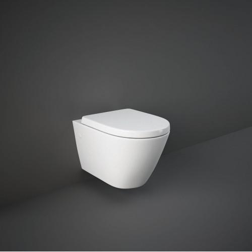RAK Resort Wall Hung WC Pan & Wrapover Soft Close Seat