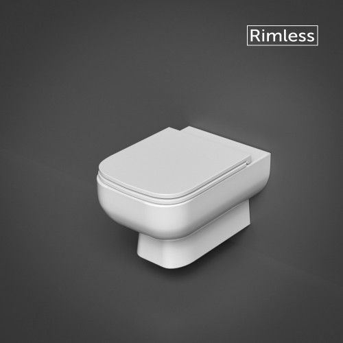 RAK Series 600 Rimless Wall Hung WC Pan & Slimline Close Seat
