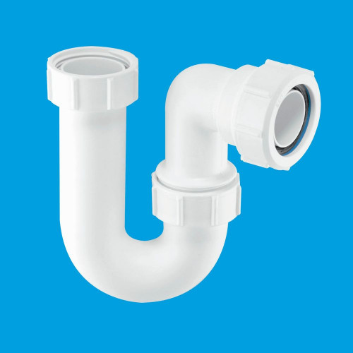 """McAlpine Tubular Swivel Sink Trap with WM & 19/23mm Pipe Connection - 1.1/2"""" Multifit"""