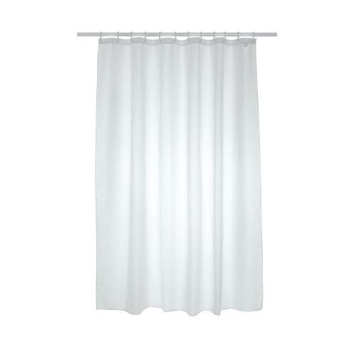 Plain Polyester Shower Curtain 1800mm x 2100mm - White