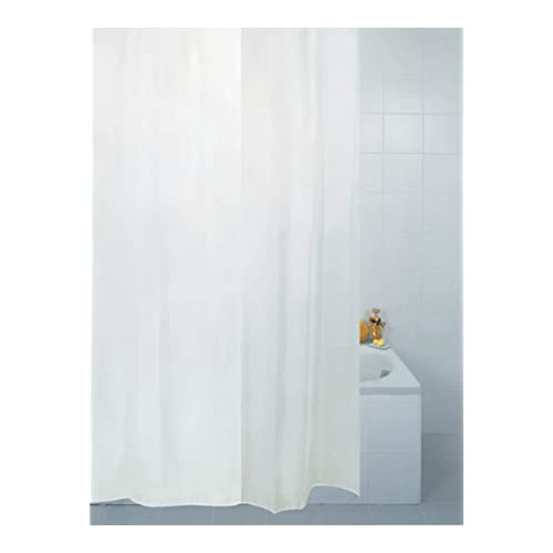 Plain Polyester Shower Curtain 2200mm x 2000mm - White