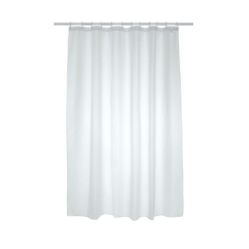 Plain Polyester Shower Curtain 2500mm x 2000mm - White