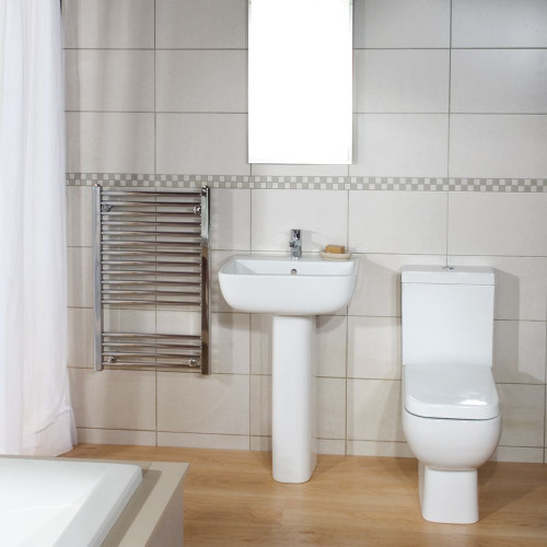 RAK Series 600 Toilet & Basin Bathroom Suite - 1 Tap Hole