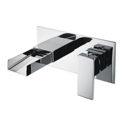 Series Z Chrome Wall Mounted Basin Mixer