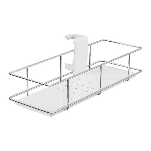 Chrome & White Riser Rail Shower Caddy
