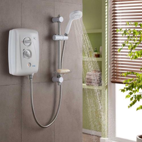 Triton T80Z Fast-Fit 7.5kW Electric Shower - White & Chrome