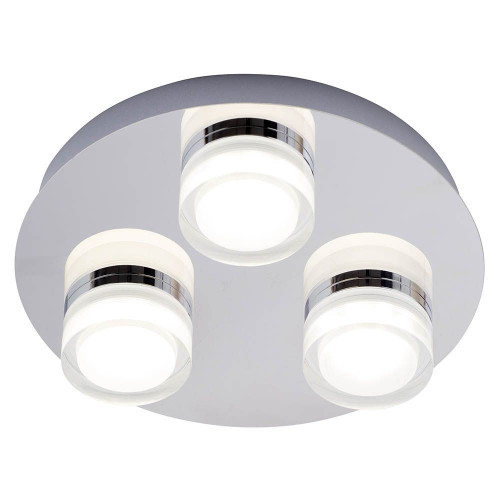 Amalfi LED 3 Light Flush Ceiling Fitting