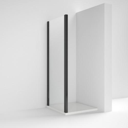 Pacific Matt Black 800mm Shower Side Panel