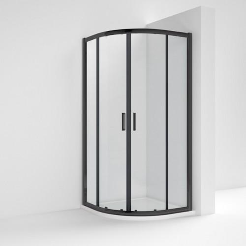 Pacific Matt Black 900mm Quadrant Shower Enclosure