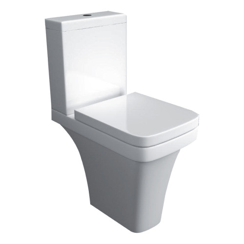Sicily Comfort Height Raised Close Coupled Toilet & Soft Close Seat