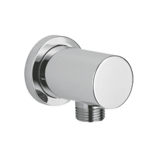 Round Chrome Plated Brass Outlet Elbow