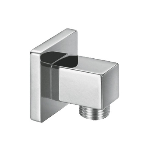 Square Chrome Plated Brass Outlet Elbow