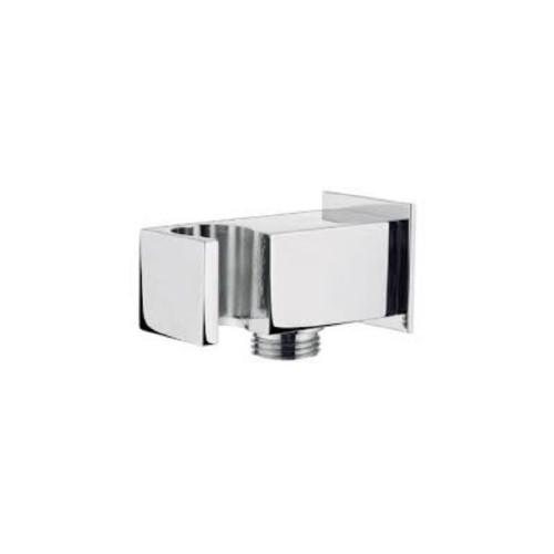 Square Shower Handset Wall Bracket With Wall Outlet