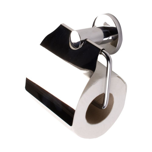 Malmo Toilet Roll Holder with Cover - Chrome