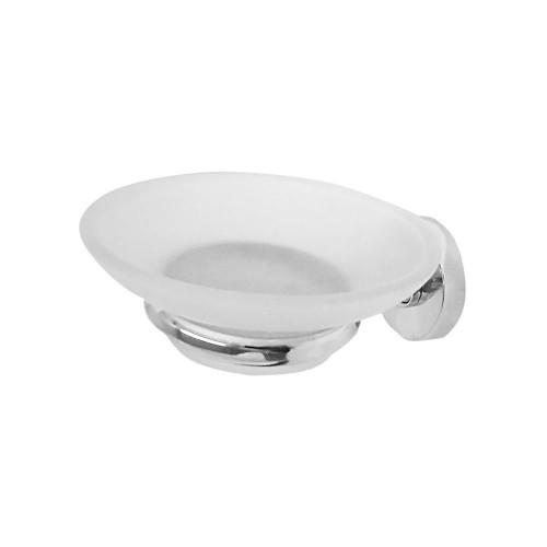 Malmo Glass Soap Dish & Holder - Chrome