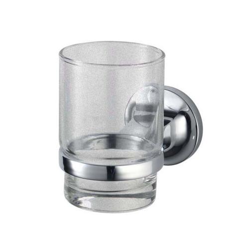 Malmo Glass Tumbler & Holder - Chrome