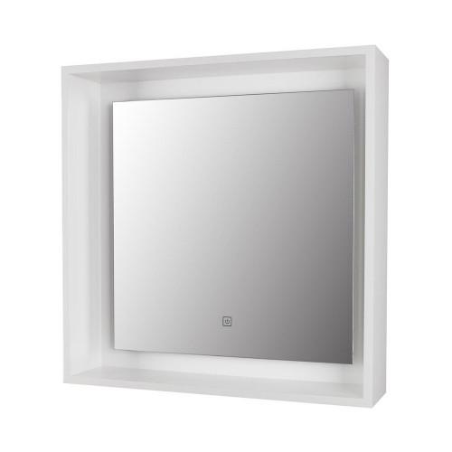 Amalfi White Framed LED Mirror 600mm x 600mm
