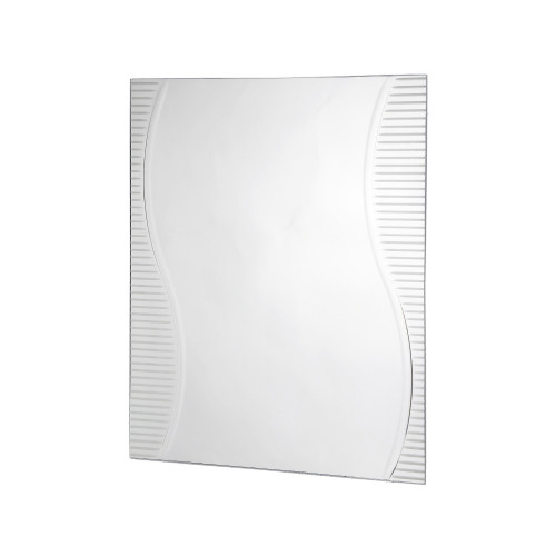 Rectangular Mirror with Etched Design 600mm x 800mm