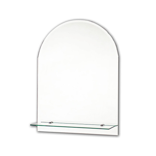 Bevelled Arch Ensuite Mirror with Shelf 400mm x 600mm